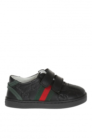 Leather sneakers od Gucci Kids
